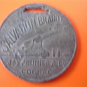 Salvation Brandy Very Old Advertising Watch Fob Medallion