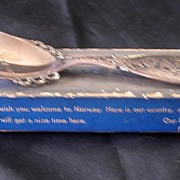 Boxed Norway Souvenir Spoon in Sterling Silver Circa 1950