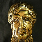 KING George IV Brass Door Knocker