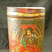 Superb VICTORY V Oriental Sweets Tin Circa 1900