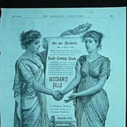 BEECHAM'S PILLS - Original Full Page Advert Illustrated London News February 1890