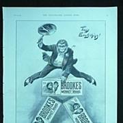 BROOKE'S Monkey Brand SOAP - Original Full Page Advert Illustrated London News January 1896