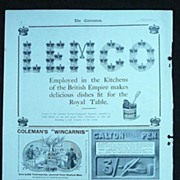 "Original Full Page ""Mixed"" Adverts Illustrated London News 1901"