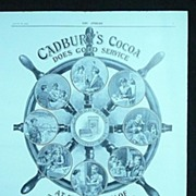 CADBURY'S Cocoa - an original Full Page from THE SPHERE 1905