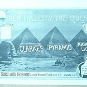 CLARKE'S 'Pyramid' Night Lights Full page Illustrated London News 1895