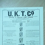 U.K.T.Co Full page Illustrated London News July 1892