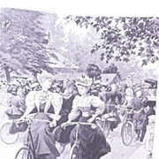 'Lady Cyclists In Battersea Park' Full Page From The London Illustrated News 1895