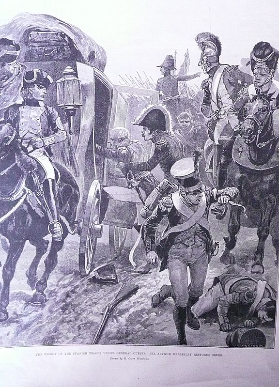 'Battles of The British Army - TALAVERA' Full Page From The London Illustrated News 1895