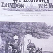 Front Page From The London Illustrated News July 13 1895 'The Prince of Wales & Duke of Connau