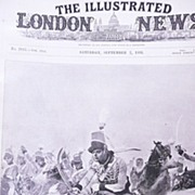 Front Page From The London Illustrated News Sept 7th 1895 'The Charge of The Light Dragoons at