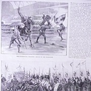 'Royal Military Tournament at The Agricultural Hall' Full Page from The London Illustrated New