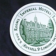 IMPERIAL Hotels Russell Square London, Advertising Ashtray