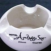 SOLD Hotel Ambassador Penang, Malaysia, Advertising Ashtray
