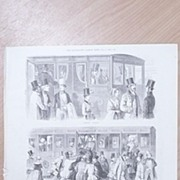 """Full Page Illustrated London News  1892 """"ENGLAND 1842 -Going to The Derby'"""