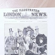 """Front Page Illustrated London News  1892  """"At The Derby -Waiting For The Start"""""""