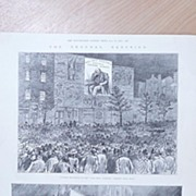 "Full Page Illustrated London News 1895  ""The General Election - Outside of The Pall Mall"