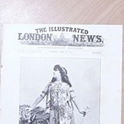 "Front Page Illustrated London News 1892  ""Madame Sarah Bernhardt as Cleopatra"""