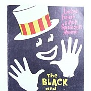 BLACK & WHITE Minstrel Show Program 1963