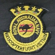 Vietnam War -Rare  Anzac EMU - RAN - NAVY Helicopter  Patch