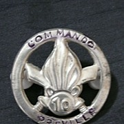 French Foreign Legion COMMANDO - 10 Preville - Indochine war Badge