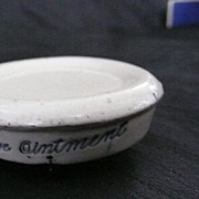Singleton's Eye Ointment - Victorian Stoneware Pot