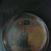 """Victorian Wooden Hand Painted Wall Plaque 'THE BELLMAN"""""""