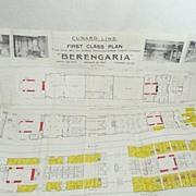 Cunard Line  Steamer BERENGARIA Deck Plans 1927