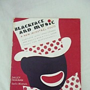 Black Americana Sheet Music 'Blackface & Music' 1936