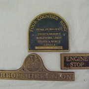 SOLD Old English CANAL Boat Signage Pieces
