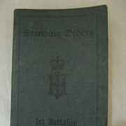 1912 (Lucknow) Standing Orders  booklet  For 1st Battalion Highland Light Infantry
