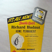 Old RICHARD HUDNUT Advertising Display Card Circa 1960's