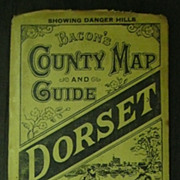 "1892 ""Bacon's ""DORSET Country Map & Guide"