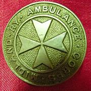 MIDLAND RAILWAY - UK-  Ambulance Corps Badge - Circa 1910-1920