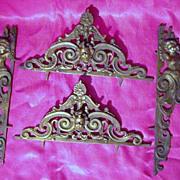 Victorian Decorative Escutcheon Set  'Art Nouveau' Period