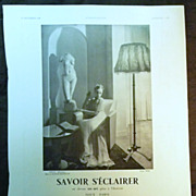 SALE ORIGINAL Savoir SECLAIRER Advert  From L ' Illustration French Magazine December 1938