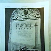 SALE ORIGINAL RENAULT Advert  From L ' Illustration French Magazine October 1938