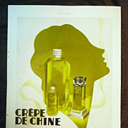 "ORIGINAL ""F. MILLOT"" Parfum Advert From L ' Illustration French Magazine March 1937"