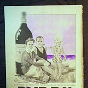 "ORIGINAL ""BYRRH APERITIF"" Advert From L ' Illustration French Magazine July 1938"
