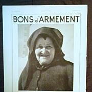"SALE ORIGINAL ""R.A.F."" WW11 Bons d' Armement ""  Advertisement  From L ' Illustr"