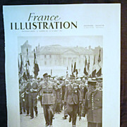 SALE ORIGINAL DE GAULLE  Feature Page' From L ' Illustration French Magazine 1947