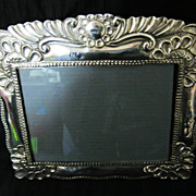 Gorgeous BIG Sterling Silver  Photo Frame - Colonial Style Peru - Circa 1930