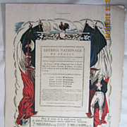 "ORIGINAL "" Lotterie Nationale"" Advert From L ' Illustration French Magazine July 193"