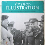 """ORIGINAL FRONT COVER """"General Montgomery & Russian Generals""""   From L ' Illustration"""
