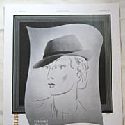 "SALE ORIGINAL ""Chapeaux FLECHET"" Advert From  L ' Illustration French Magazine  Octo"