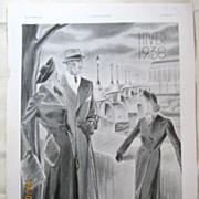 "SALE ORIGINAL ""BELLE JARDINIERE""  Advert From  L ' Illustration French Magazine  Oct"