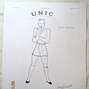 "SALE ORIGINAL ""UNIC"" Advert From  L ' Illustration French Magazine  December 1938"