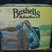 Huge Vintage BUSHELLS Tea Tin
