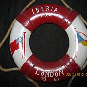 P & O Lines IBERIA  Souvenir Lifebuoy 1961