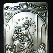 Silver Roman Catholic EX VOTO  'Ave Maria'   From Peru