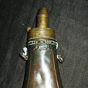 Victorian Black Powder Horn